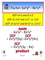 factor 6x 2 y 5 8x 3 y 4