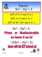 factor 9x 3 11y 2 3