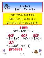 factor 9x 3 12x 2 3x