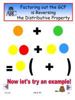 factoring out the gcf is reversing the distributive property