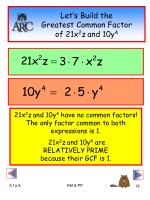 let s build the greatest common factor of 21x 2 z and 10y 4