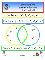what are the common factors of x 3 and x 5