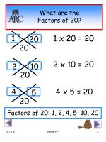 what are the factors of 20