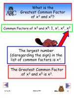 what is the greatest common factor of x 3 and x 5
