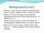 bibliography contd