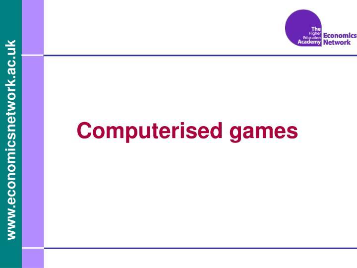 Computerised games