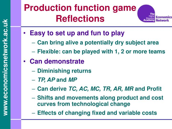 Production function game