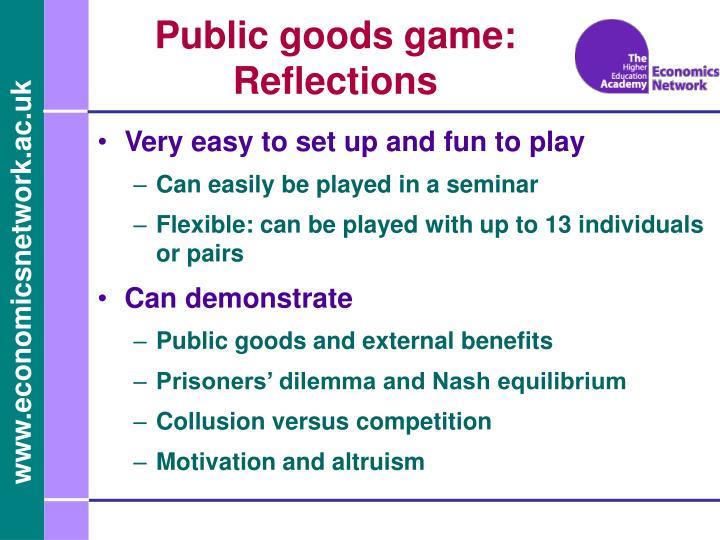 Public goods game: