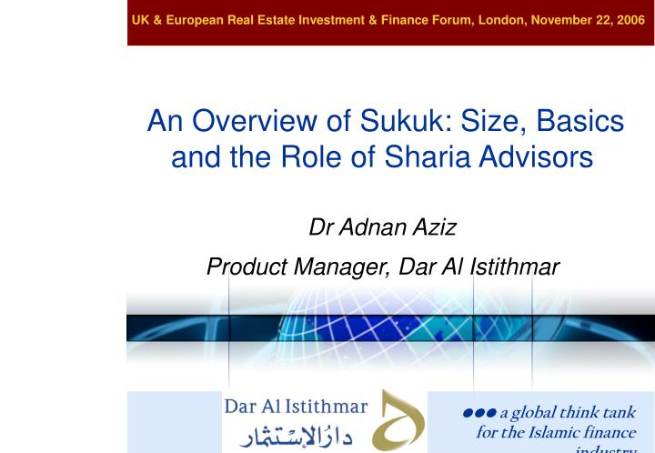An overview of sukuk size basics and the role of sharia advisors