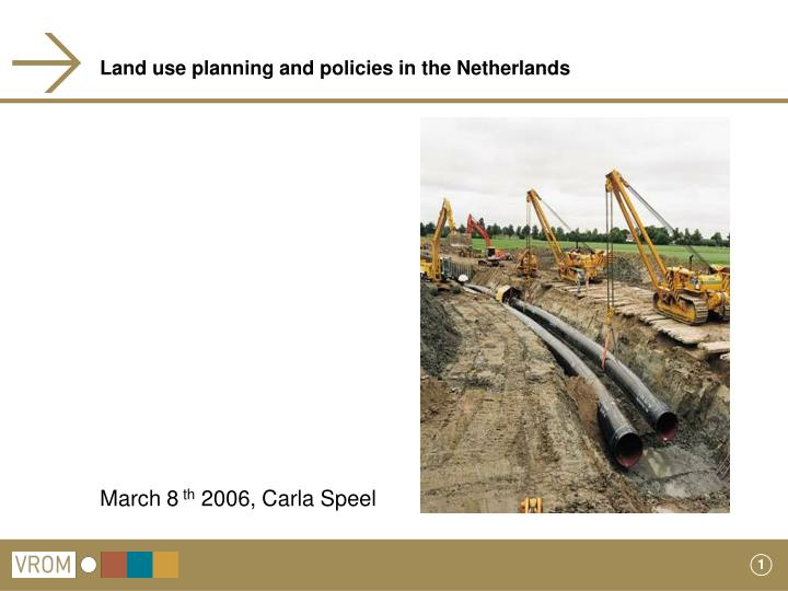 land use planning and policies in the netherlands n.
