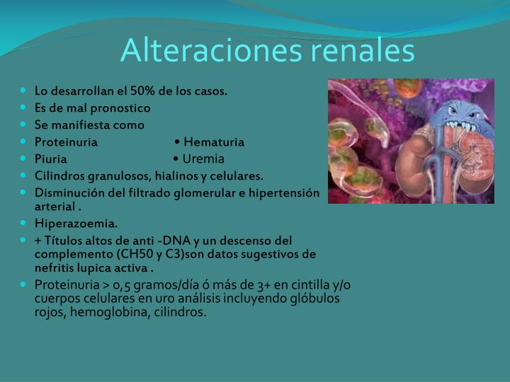 Alteraciones renales