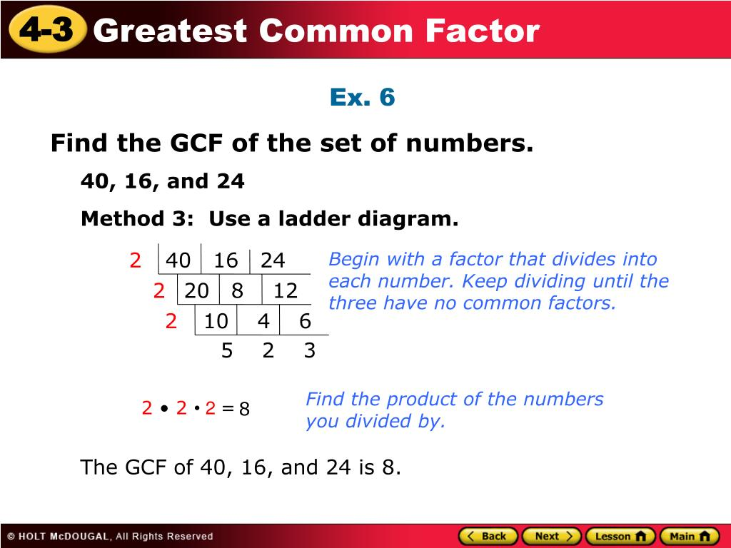 Ppt Warm Up Write The Prime Factorization Of Each Number 1 14 3 63 2 18 4 54 Powerpoint Presentation Id 6905843