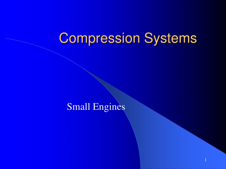 compression systems n.