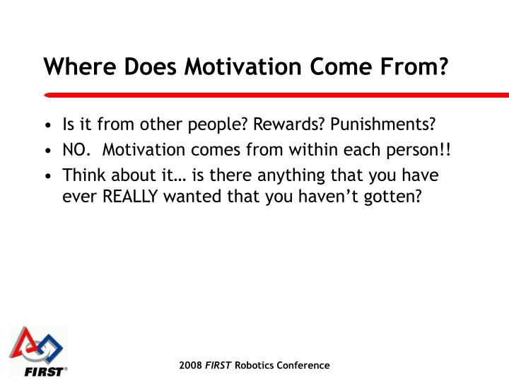 Where Does Motivation Come From?
