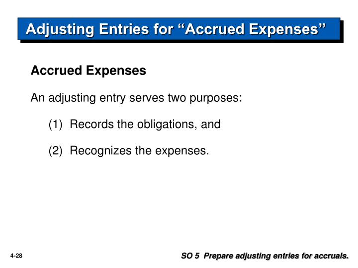 "Adjusting Entries for ""Accrued Expenses"""