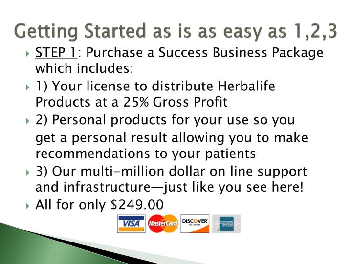 Getting Started as is as easy as 1,2,3