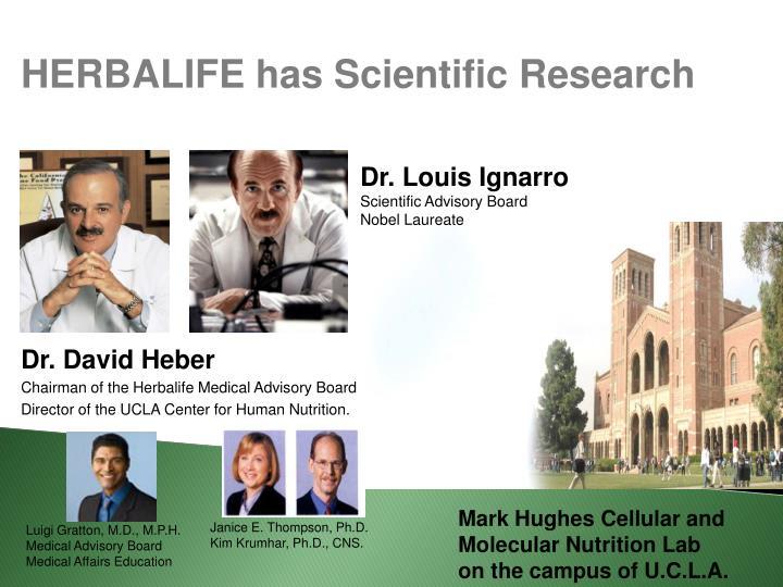 HERBALIFE has Scientific Research