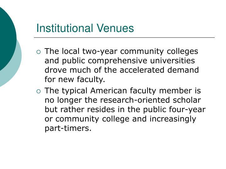 Institutional Venues
