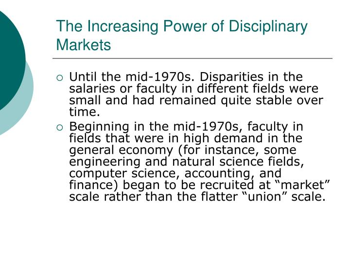The Increasing Power of Disciplinary Markets
