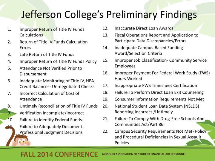 Jefferson College's