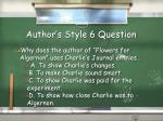 author s style 6 question