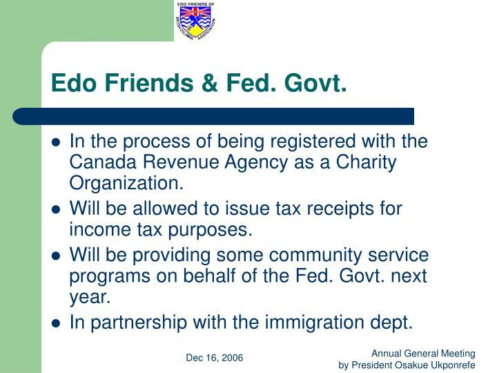 Edo Friends & Fed. Govt.
