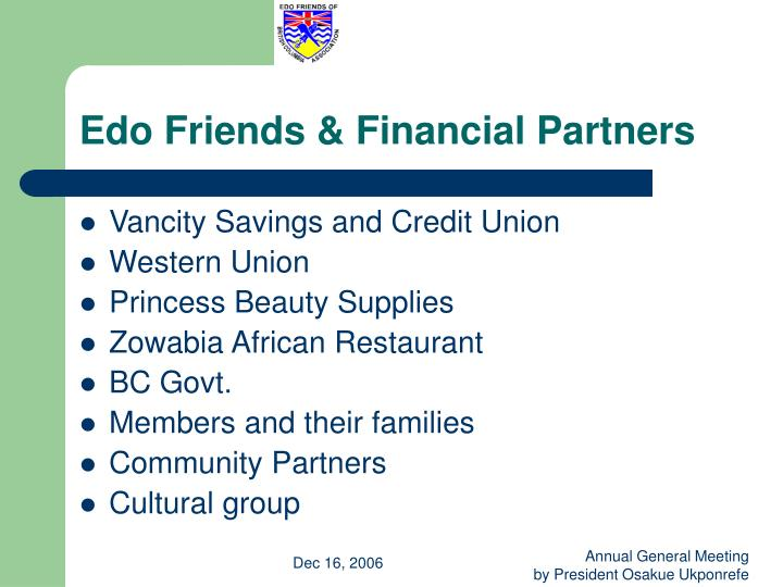 Edo Friends & Financial Partners