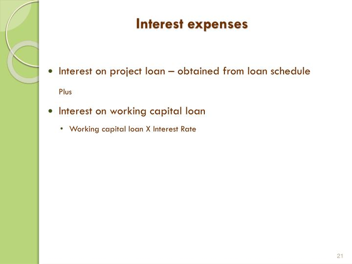 Interest expenses