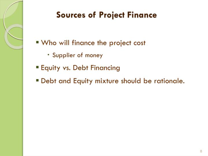 Sources of Project Finance