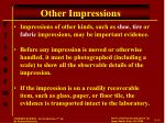 other impressions