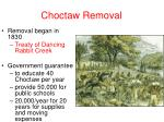 choctaw removal