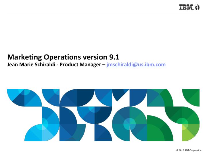 Marketing Operations version 9.1