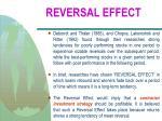 reversal effect