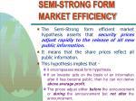 semi strong form market efficiency