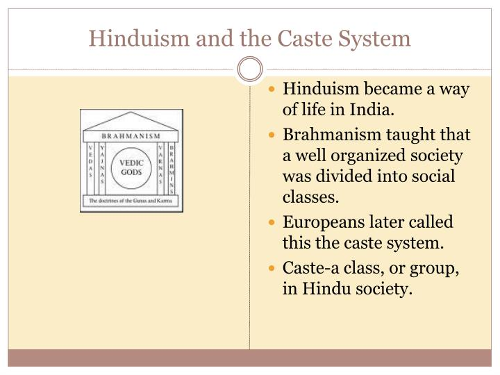 hinduism caste system The role of caste is a very big issue in hinduism it is the number one thing that non-hindus use to criticize hinduism lower caste hindus are often converted away from hinduism with promises of equality (whether or not that equality actually happens is questionable) the hindu american foundation.