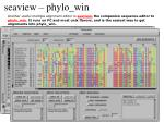 seaview phylo win