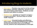 introducing blogs to students