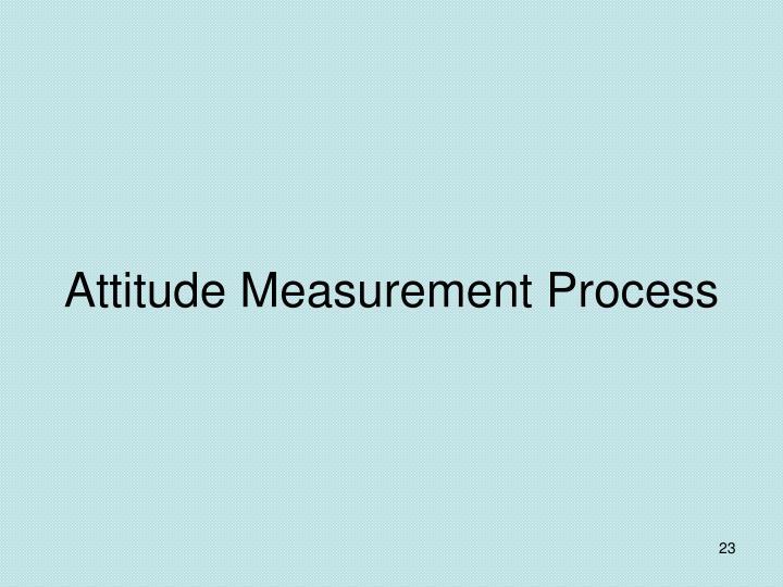Attitude Measurement Process