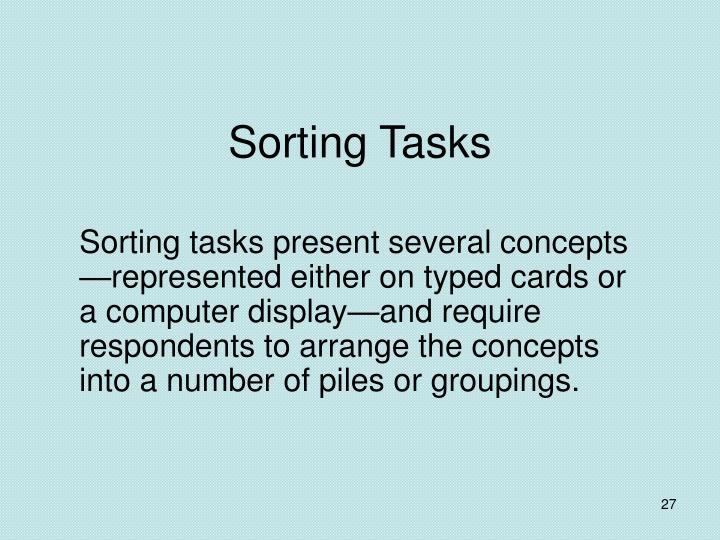 Sorting Tasks