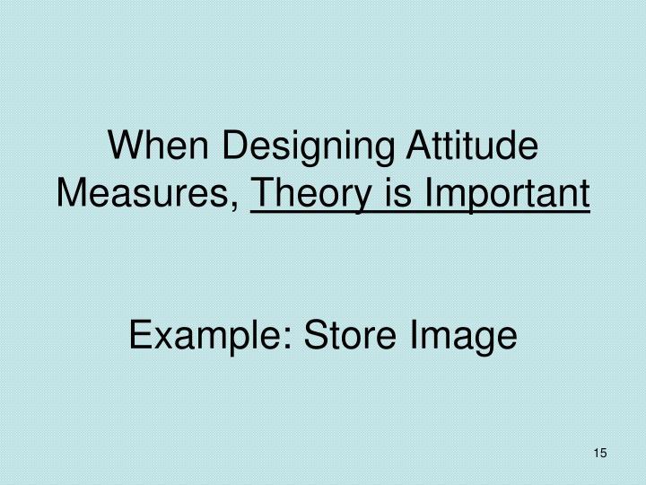 When Designing Attitude Measures,