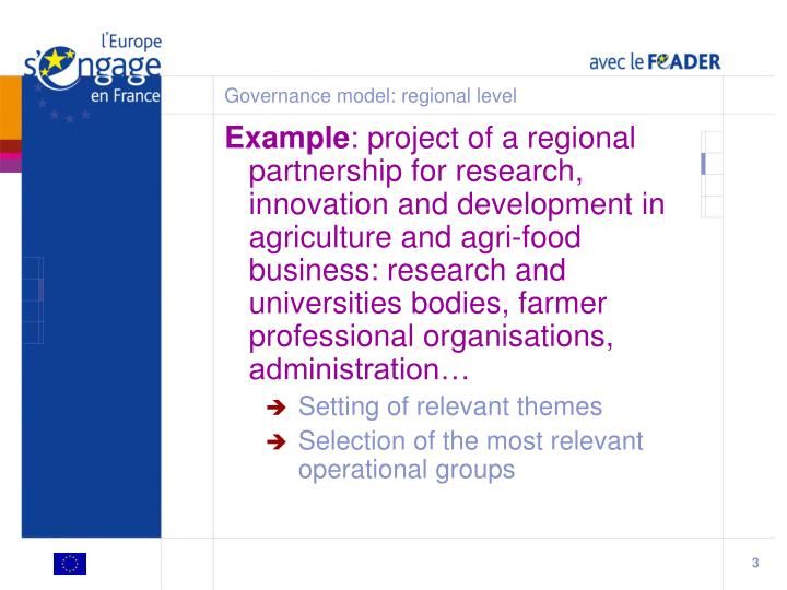 Governance model regional level