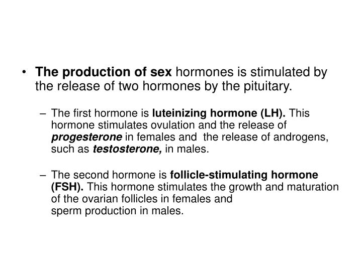 The production of sex