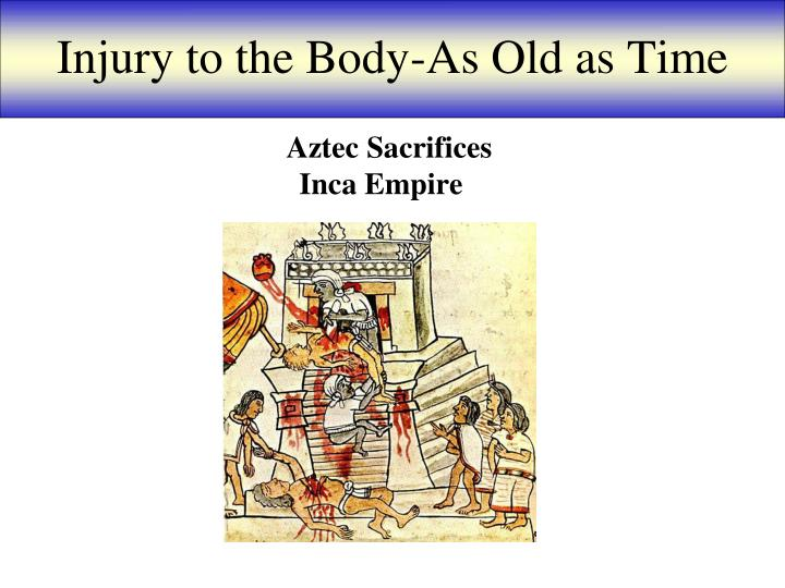 Injury to the body as old as time