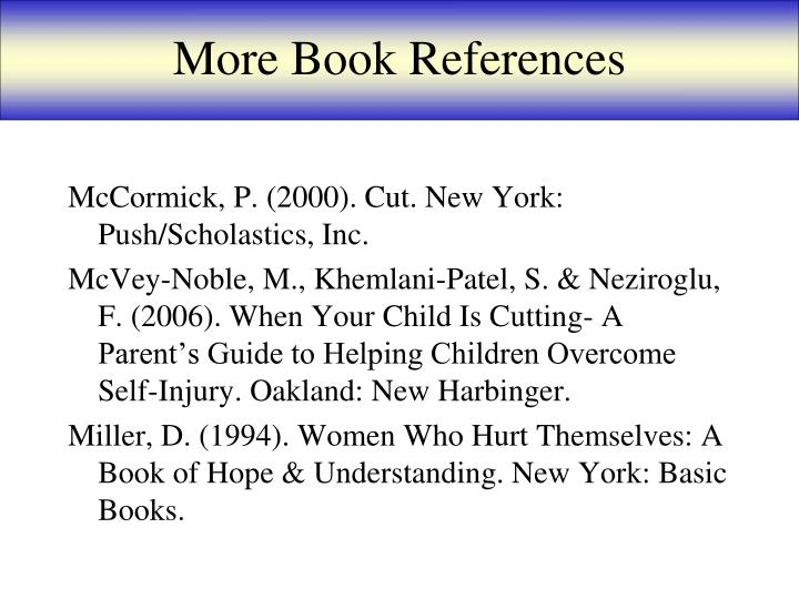 More Book References