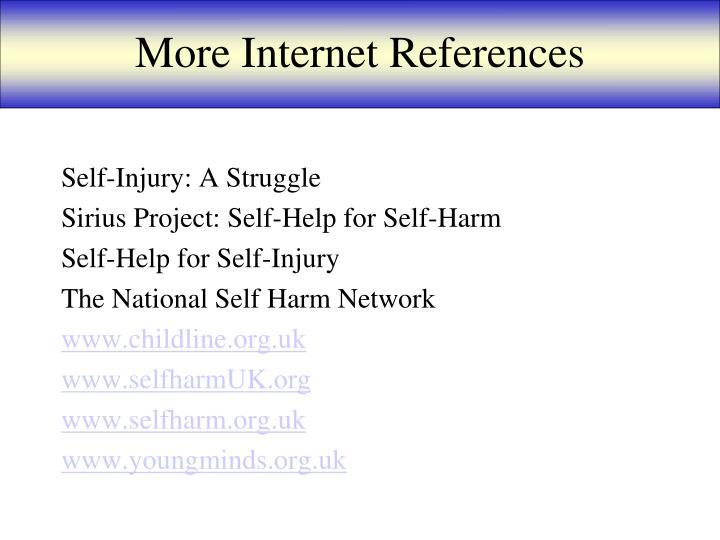 More Internet References