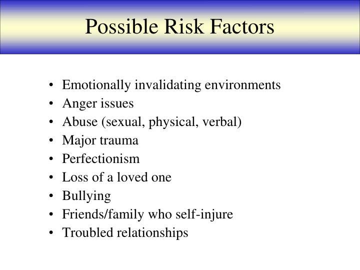 Possible Risk Factors