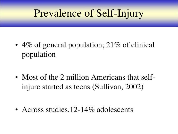 Prevalence of Self-Injury