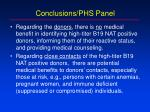 conclusions phs panel