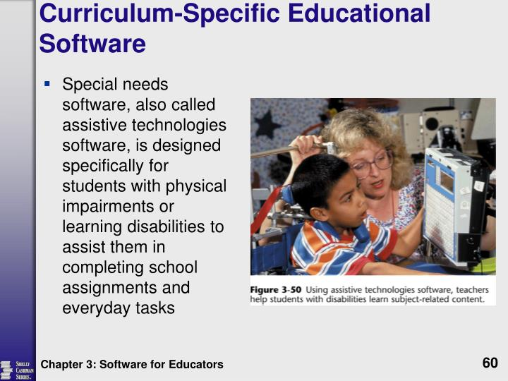 Curriculum-Specific Educational Software