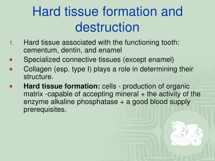 Hard tissue formation and destruction